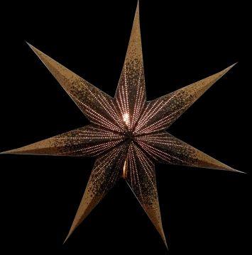 Leuchtstern Meteor Goldcrash schwarz