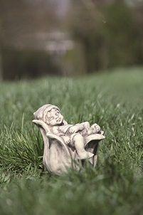 Vidroflor Steingussfigur Glockenblume, Grau, 17/17/18 cm
