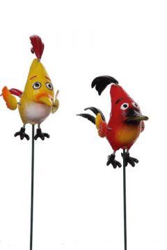 Gartenstecker- Wobbler Vogel Punker orange