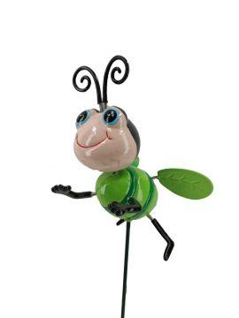 Gartenstecker- Wobbler fröhliche Biene grün