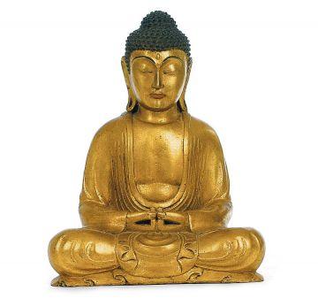 Buddha antikgold, 31 cm