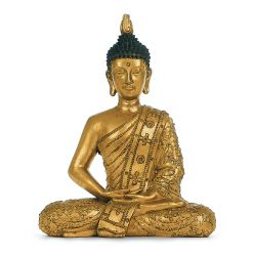 Buddha antikgold, 30 cm