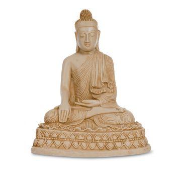 Buddha sandfarben, 17 cm