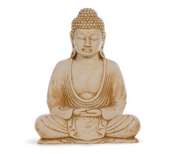 Buddha sandfarben, 23 cm
