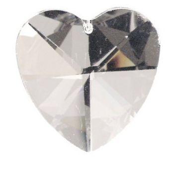 Kristall Herz 30 klar
