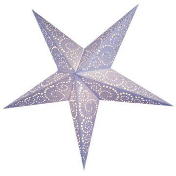 Leuchtstern twister batik, weiß mit Zippverschluss