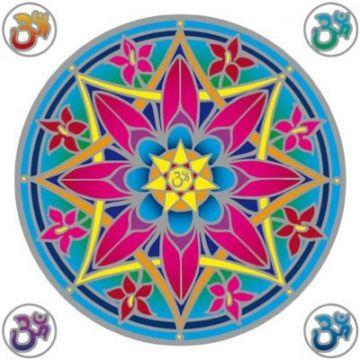 Fensterbild OHM Mandala