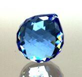 Kristall-Kugel hellblau